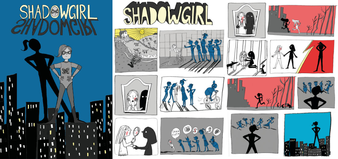 Shadow Girl — the city streets